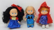 "3 Vintage Storybook Treasures 5"" Fairytale Dolls Lot Strawberry Shortcake Type"