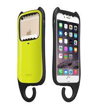 "myCat iPhone 6/6s Plus 5.5"" Cover Case Card Pocket Hanger KOREA - Yellow Lime"
