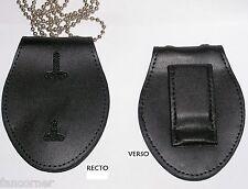 Porte badge pour badge de police avec chaine et clip police badge holder w/chain