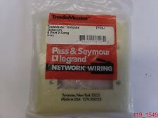 Pass & Seymour Ivory Wall Face Plate 9 Port 2 Gang TPD9-I