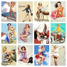 "7"" x 5"" SEXY 1950's PIN UP GIRL GARAGE WORKSHOP MAN CAVE METAL SIGN TIN PLAQUE 1"