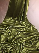 "1 MTR OLIVE GREEN CREPE BACK LINING SATIN FABRIC...58"" WIDE (NEW IN STOCK)"