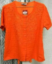 ( Ref 5147 ) BY BEST Free Size UK 10-12 Orange Short Sleeve Blouse Shirt Top NEW