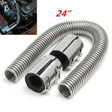 24'' Flexible Stainless Steel Upper or Lower Radiator Hose Set w/ Chrome Caps