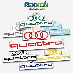 QUATTRO RINGS AUDI A4 A6 A8 RS3 Q5 RS4 Line Racing Decal Sticker Logo Emblem SET