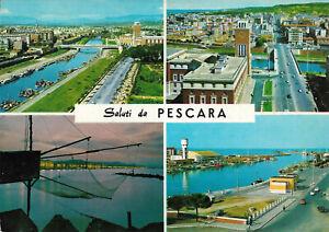 Italia - Pescara  -  Flume Pescara - Palazzo di Citta - Trabocchi - Porta - 1960