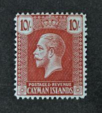 CAYMAN ISLANDS, KGV, 1921, 10s. carmine/green value, SG 67, MNG, Cat £75.