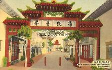 Los Angeles,Califonia,New China Town,Gateway,Gin Ling Way,Linen,c.1940s