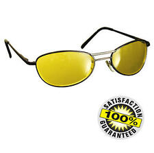 Yellow Nightsight Car Driving Glasses Prevent Glare & Dazzle Night Vision