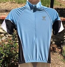 TYR  Female CYCLING SHORT SLEEVE JERSEY Blue & Black / Comfort fit Sz. M