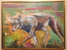 JOSE TRUJILLO - OIL PAINTING MODERN EXPRESSIONIST IMPRESSIONIST COYOTE LARGE