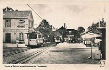 Postcard Tram Wuppertal Bahnhof an der endstation der Zahnradbahn  17