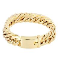 Vergoldet Herren Schmuck Legierung Bordstein kubanischen Kette Armband Schmuck
