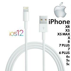 Cable Lightning For Apple IPHONE 11/XR / XS / Max/X / Plus/ 8/ 7/ 6/ 6s/5/ 5s/