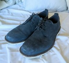 Ecco Men's Size 41 Blue Suede Leather Oxfords