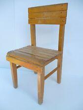 ♦ Ancienne Chaise Enfant En Bois Vintage