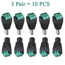 10 x 12V DC CCTV Female Male Power Connector Adapter Plug Jack Socket Cable UK