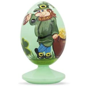 Irish Leprechaun & Pot of Gold on St Patrick's Day Wooden Figurine