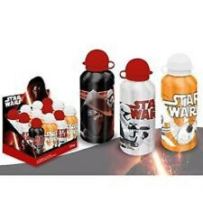 3 Star Wars 7 -  The Force Awakens Aluminium Water Bottles Black Silver Orange