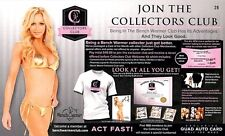 Nikki Ziering 28 2015 Bench Warmer Treasure Chest Collector's Club Promo Flyer