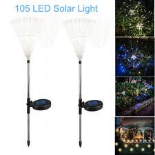 105 LED Solar Starburst Firework String Light Xmas Waterproof Landscape Lamp