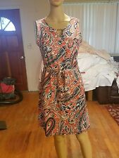 Ann Taylor dress size 6 sleeveless knee length paisly NWTs