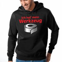 Ich hol' mein Werkzeug Panzerband Klebeband Fun Kapuzenpullover Hoodie Sweater