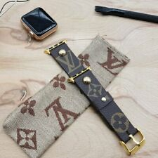 Handmade Louis Vuitton Apple watch band Series 6, 5,4,3,2