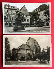 2 x AK JENA 1942 Markt mit Hanfried und Schillers Trau-Kirche  ( 15255