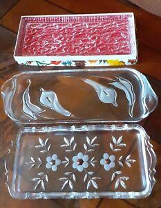 Walther Glas Kuchenplatte Stollenplatte Königskuchen 3 Stück