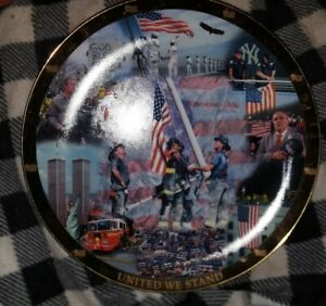 """United We Stand World Trade Center Collector 12 """" Plate"""