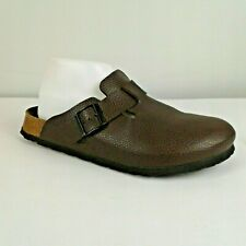 Birkenstock Birki's Womens Size 10/41 Boston Brown Leather Closed Toe Clogs