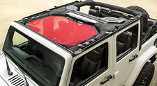 Red Eclipse Front Sun Shade For Jeep Wrangler JK 2007-2018 Rugged Ridge 13579.24