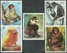 Timbres Animaux Primates Singes Sharjah o lot 27737