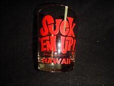 New listing Vintage Suck 'em up Hawaii drink glass w Mai Tai Recipe