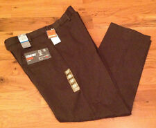 NWT $60 Dockers Relaxed Fit D4 Comfort Khaki BROWN Pants FLAT Front Mens 36 x 29