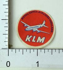1940's-50's KLM Royal Dutch Airline, Holland Luggage Label Poster Stamp F70