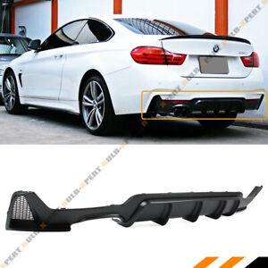 For 14-2020 BMW F32 F36 4 Series 428i M Sport Rear Bumper Diffuser Twin Exhaust