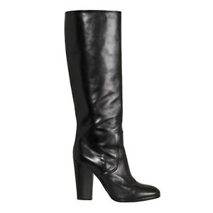 Ralph Lauren Purple Label Collection Black Leather Hailee Boots New $1250
