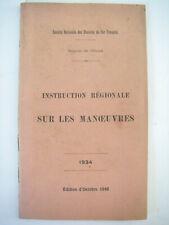 1948 ancien manuel sncf instruction régionale sur les manoeuvres / CHEMIN DE FER