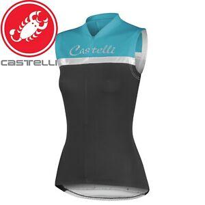 Castelli Promessa Sleeveless Women's Cycling Jersey - Black/Aqua