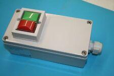Gehäuse mit Taster K & B 7219, Ein-Aus, 1S+1Ö, IP65, Schalter, Motorsteuerung