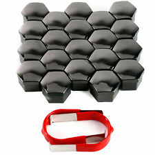 20 x 21mm Black Wheel Plastic Nut Bolt Covers Caps Tool fit Fit /BMW E46 E60 E61