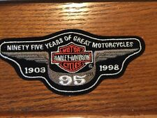 New HARLEY DAVIDSON 95th Anniversary Medium Size Wing PATCH 1903-1998