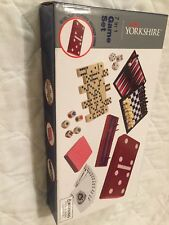 Game Set 7 In 1 Chess Checkers Dominoes Cribbage Poker Dice Backgammon Cards