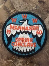 OA Lodge 81 Mannaseh Merged 1960 Spring Conclave WWW BSA Rare Patch IL