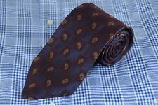Joseph Abboud Men's Tie Burgundy Blue & Gold Box Paisley Silk Woven Necktie