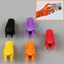 50pcs RJ45 Ethernet Network LAN Cable Lead Plug End Connector Cover Boot New