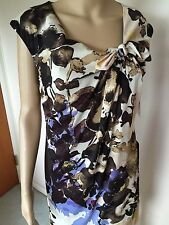 New Donna Ricco dress multi color polyester spandex sleeveless lined size 8