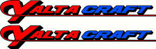 Yalta Craft, 3 Colour, Fishing, Boat, Sticker Decal Set of 2